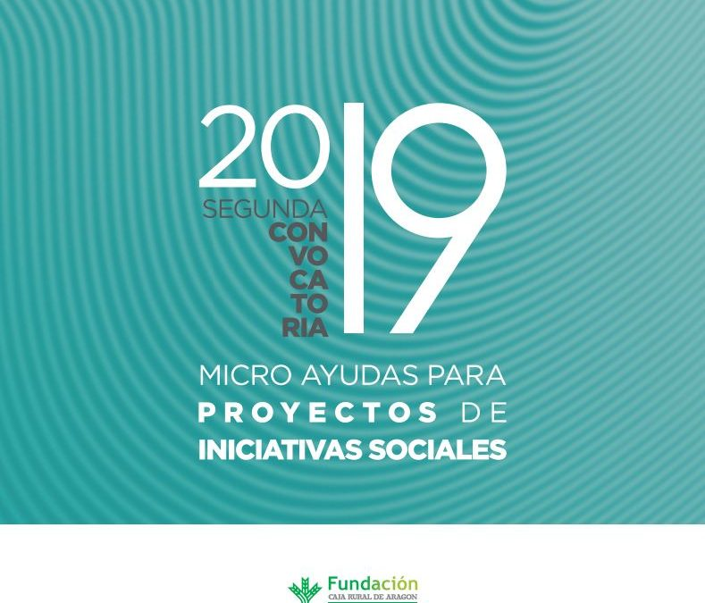 Se activa la segunda convocatoria de las micro ayudas para proyectos sociales de la mano de la Fundación Caja Rural de Aragón