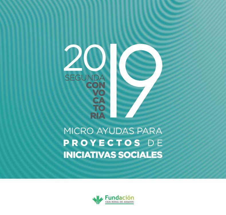 Segunda convocatoria micro ayudas proyectos sociales Fundación Caja Rural Aragón
