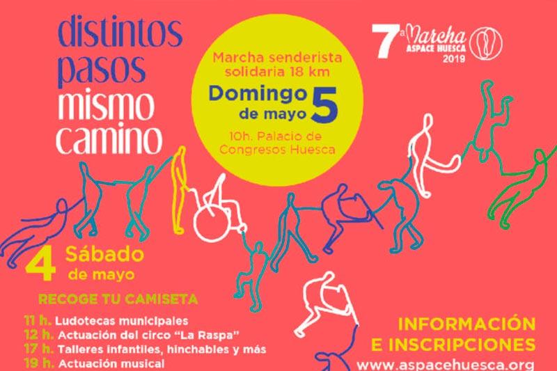 El voluntariado de Fundación Caja Rural de Aragón participa en la Marcha Aspace de Huesca