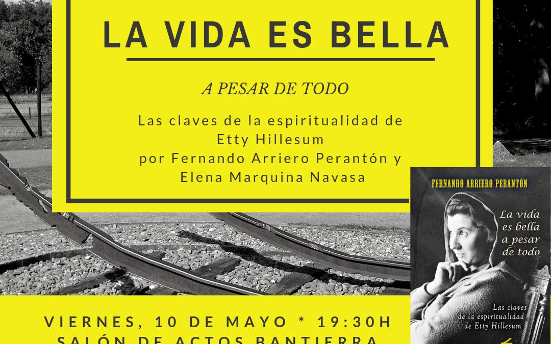 """El salón de actos de Bantierra en Huesca acoge la presentación del libro """"La Vida es Bella"""""""