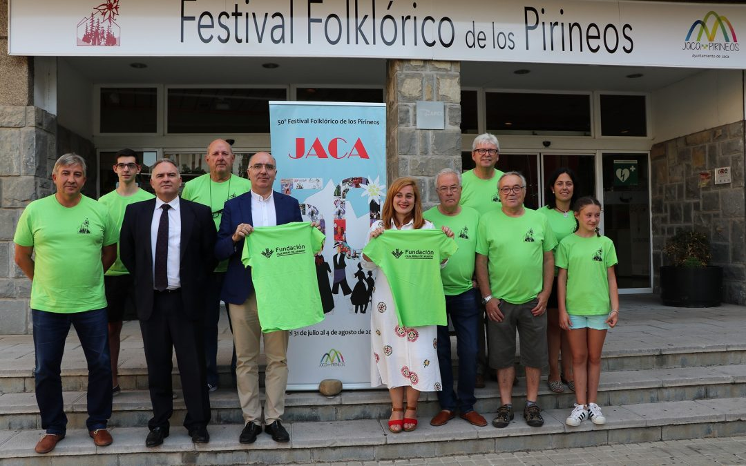 Los voluntarios del Festival Folklórico de los Pirineos, patrocinados por nuestra Fundación