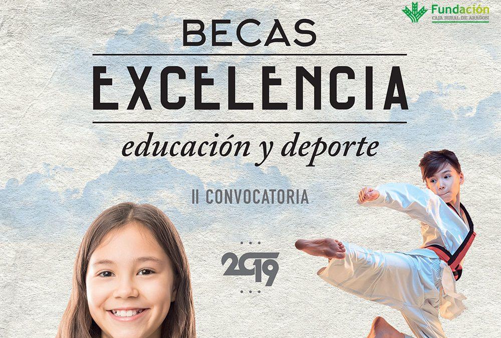 """LA FUNDACION CAJA RURAL DE ARAGON CONVOCA LAS """"BECAS EXCELENCIA"""" A LA EDUCACIÓN Y EL DEPORTE, QUE ELEVA A 20 EN ESTA NUEVA EDICIÓN"""