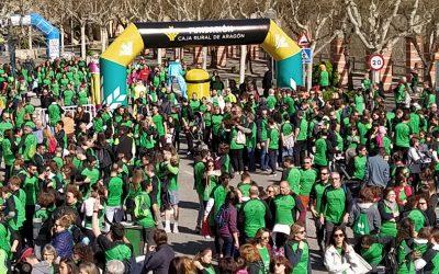 La Carrera por la Vida tiñe de verde las calles de Fraga con el patrocinio de nuestra Fundación