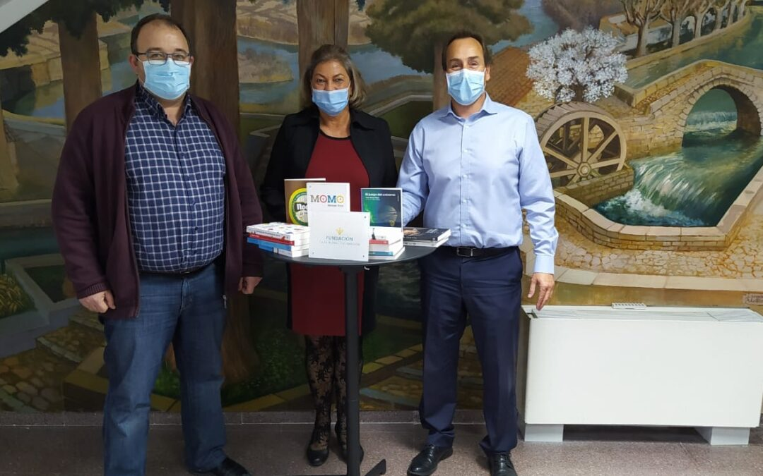 Fundación Caja Rural de Aragón colabora con la biblioteca de San Mateo de Gállego