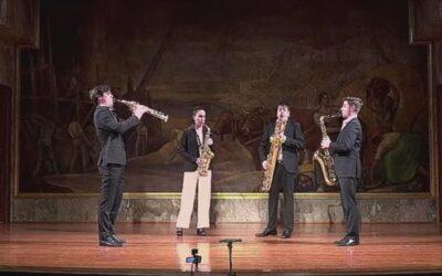 La magia del saxo sonó en la joya modernista de Zaragoza