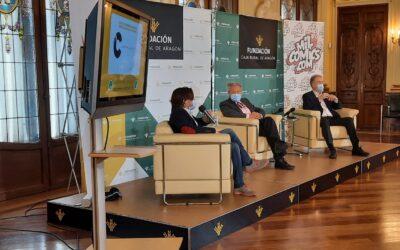 El periodista y escritor Luis del Val conversó en Caja Rural de Aragón